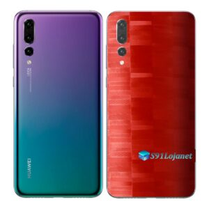 Huawei P20 PRO Adesivo Skin Película FX Pixel Vermelho