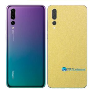 Huawei P20 PRO Adesivo Skin Película Metal Dourado