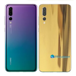 Huawei P20 PRO Adesivo Skin Película Metal Ouro Gold