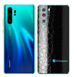 Huawei P30 PRO Adesivo Skin Película FX Couro Negro