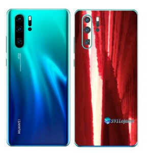 Huawei P30 PRO Adesivo Skin Película Metal Gold Red