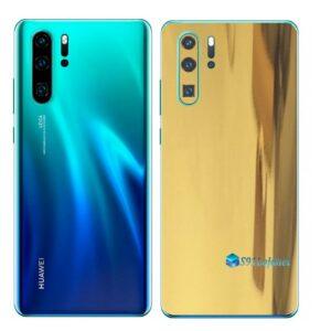 Huawei P30 PRO Adesivo Skin Película Metal Ouro Gold