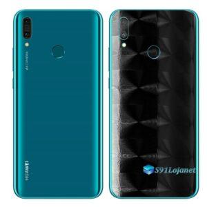 Huawei Y9 2019 Adesivo Película Traseira FX Preto Escovado