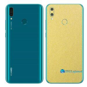 Huawei Y9 2019 Adesivo Película Traseira Metal Dourado