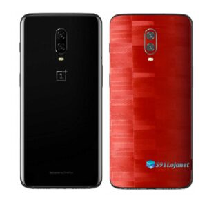 OnePlus 6T Adesivo Skin Película Traseira FX Pixel Vermelho