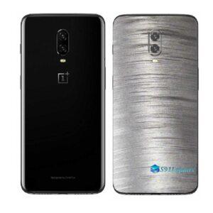 OnePlus 6T Adesivo Skin Película Traseira Metal Escovado