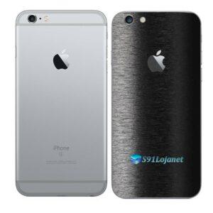 iPhone 6 Plus Adesivo Skin Película Traseira FX Preto Escovado