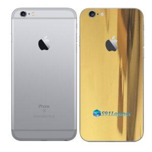 iPhone 6s Adesivo Skin Película Traseira Metal Ouro Gold
