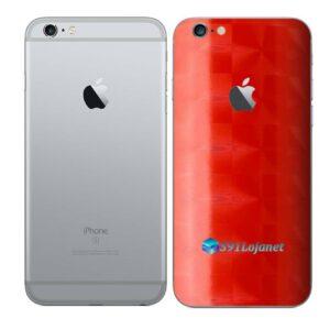 iPhone 6s Plus Adesivo Skin Película Traseira FX Dimension Red