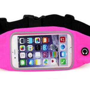 Pochete Fitness Corrida Celular Cinto Chave Academia Rosa