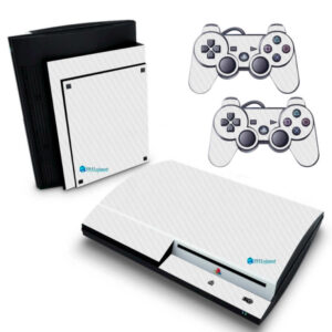 Playstation 3 PS3 Fat Adesivo Fibra Branco