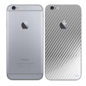 iPhone 6 Plus Adesivo Skin Película Traseira Fibra Cromo