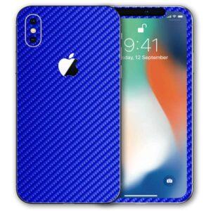 iPhone X Apple Adesivo Skin Película Fibra Azul