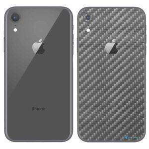 iPhone XR Apple Adesivo Skin Película Fibra Cinza