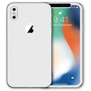 iPhone XS Apple Adesivo Skin Película Fibra Branco