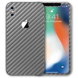iPhone XS Apple Adesivo Skin Película Fibra Cinza