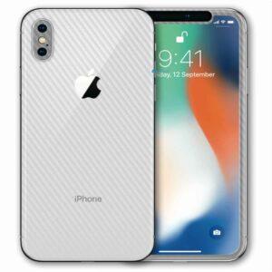 iPhone XS Apple Adesivo Skin Película Fibra Transparente