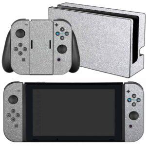Adesivo Skin Película Nintendo Swicht Metalico Brilho Cinza