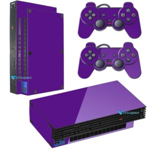 Adesivo Skin Playstation 2 PS2 Fat Pelicula Brilho Vinil Cor Roxo