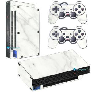 Adesivo Skin Playstation 2 PS2 Fat Pelicula Marmore Bianco