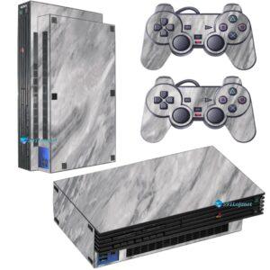 Adesivo Skin Playstation 2 PS2 Fat Pelicula Marmore Carrara