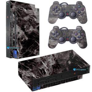 Adesivo Skin Playstation 2 PS2 Fat Pelicula Marmore Nero