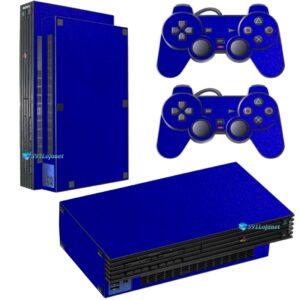 Adesivo Skin Playstation 2 PS2 Fat Pelicula Metalico Brilho Azul