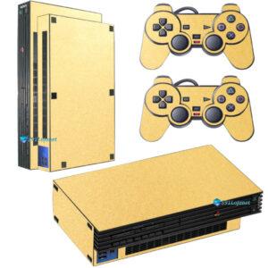 Adesivo Skin Playstation 2 PS2 Fat Pelicula Metalico Brilho Gold