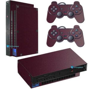 Adesivo Skin Playstation 2 PS2 Fat Pelicula Metalio Malbec