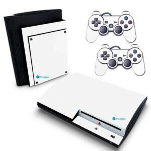 Adesivo Skin Playstation 3 PS3 Fat Pelicula Brilho Vinil Cor Branco