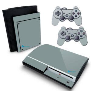 Adesivo Skin Playstation 3 PS3 Fat Pelicula BrilhoVinil Cor Cinza