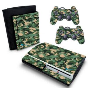 Adesivo Skin Playstation 3 PS3 Fat Pelicula Camo Digi Green Tradicional