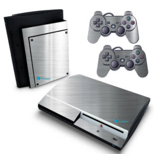 Adesivo Skin Playstation 3 PS3 Fat Pelicula Cromo Escovado