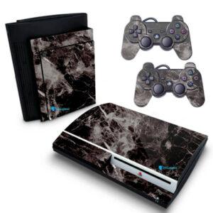 Adesivo Skin Playstation 3 PS3 Fat Pelicula Marmore Nero
