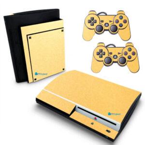 Adesivo Skin Playstation 3 PS3 Fat Pelicula Metalico Brilho Gold