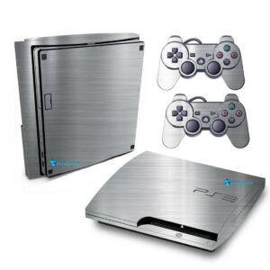 Adesivo Skin Playstation 3 Slim PS3 Pelicula Cromo Escovado