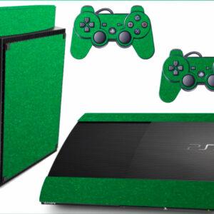 Adesivo Skin Playstation 3 Super Slim PS3 Pelicula Metalico Brilho Verde