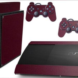 Adesivo Skin Playstation 3 Super Slim PS3 Pelicula Metalico Malbec