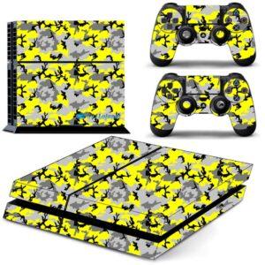 Adesivo Skin Playstation 4 PS4 Fat Pelicula Camo Yellow