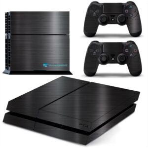 Adesivo Skin Playstation 4 PS4 Fat Pelicula Dark Escovado
