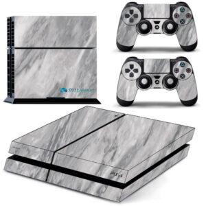 Adesivo Skin Playstation 4 PS4 Fat Pelicula Marmore Carrara