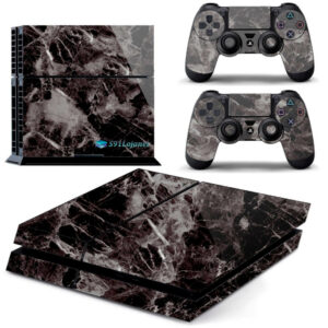 Adesivo Skin Playstation 4 PS4 Fat Pelicula Marmore Nero