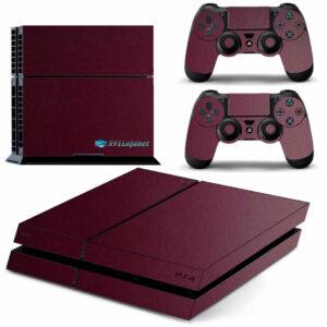 Adesivo Skin Playstation 4 PS4 Fat Pelicula Metalico Malbec