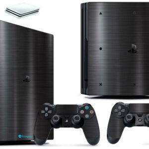 Adesivo Skin Playstation 4 PS4 Pro Pelicula Dark Escovado