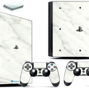 Adesivo Skin Playstation 4 PS4 Pro Pelicula Marmore Bianco