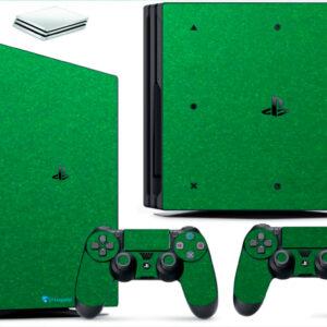 Adesivo Skin Playstation 4 PS4 Pro Pelicula Metalico Brilho Verde