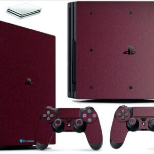Adesivo Skin Playstation 4 PS4 Pro Pelicula Metalico Malbec