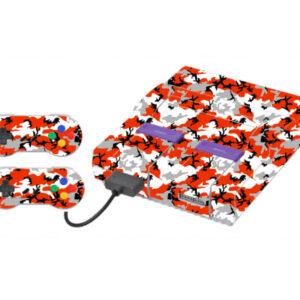 Adesivo Skin Super Nintendo Snes Pelicula Camo Red