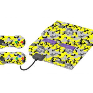 Adesivo Skin Super Nintendo Snes Pelicula Camo Yellow