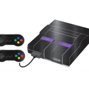 Adesivo Skin Super Nintendo Snes Pelicula Dark Escovado